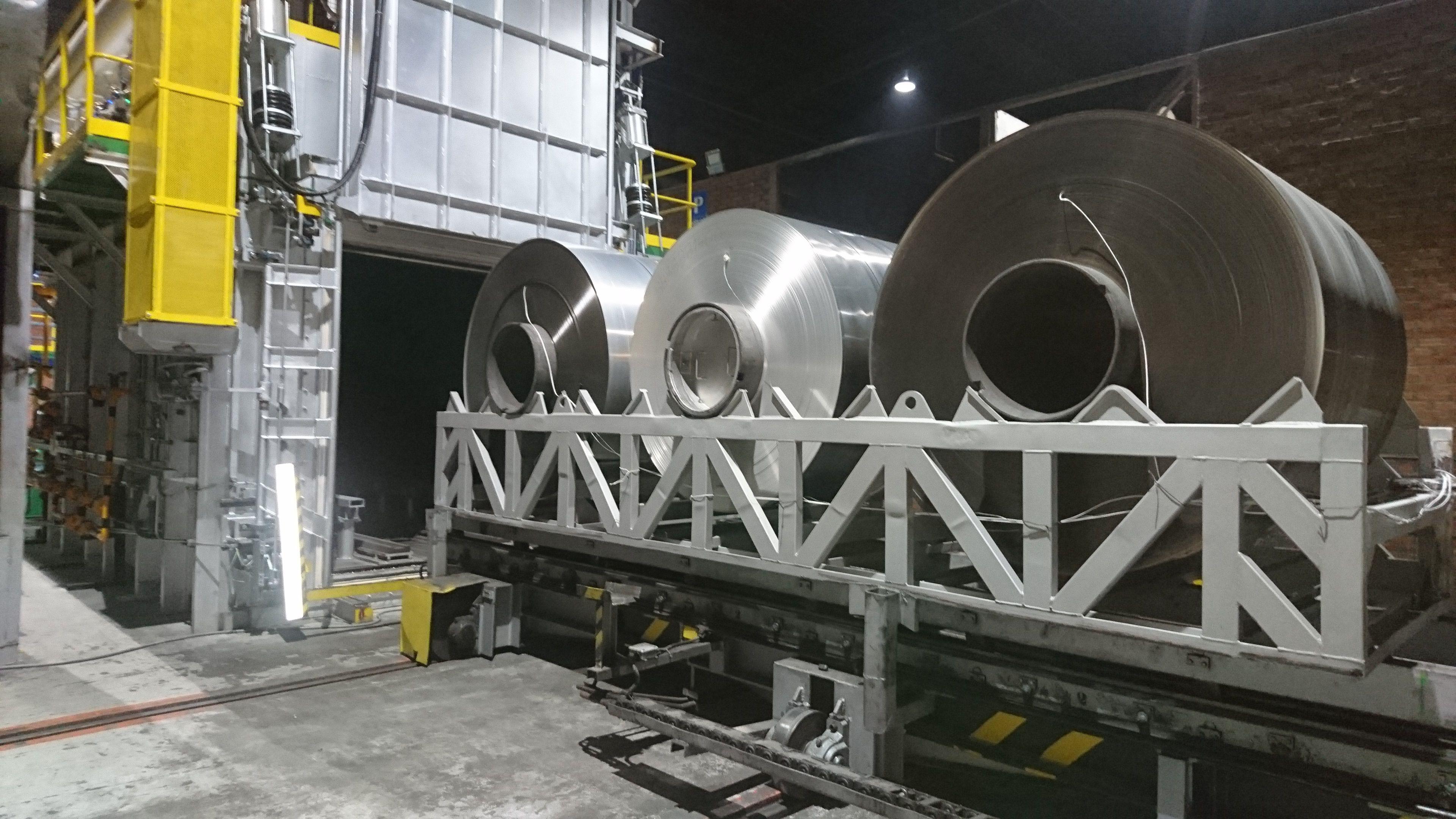 Horno para tratamiento térmico de piezas de aluminio T6